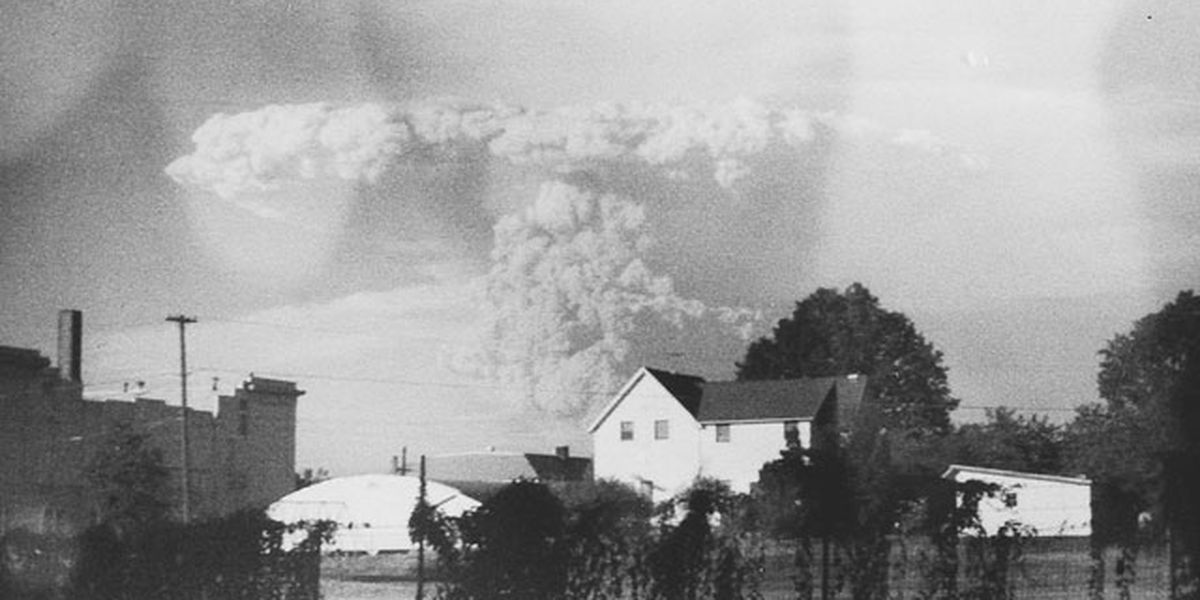 Unseen photos of Mt. St. Helens eruption discovered in forgotten camera at Goodwill