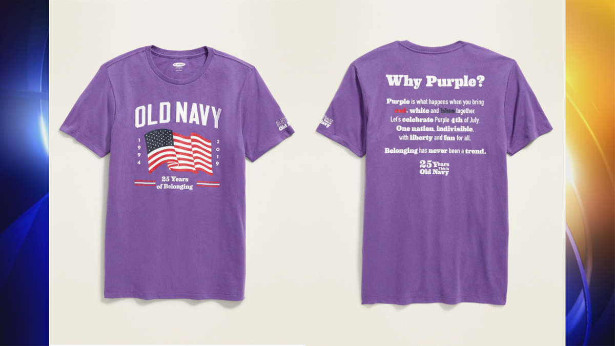 Old Navy launches purple Fourth of July shirt to celebrate inclusion