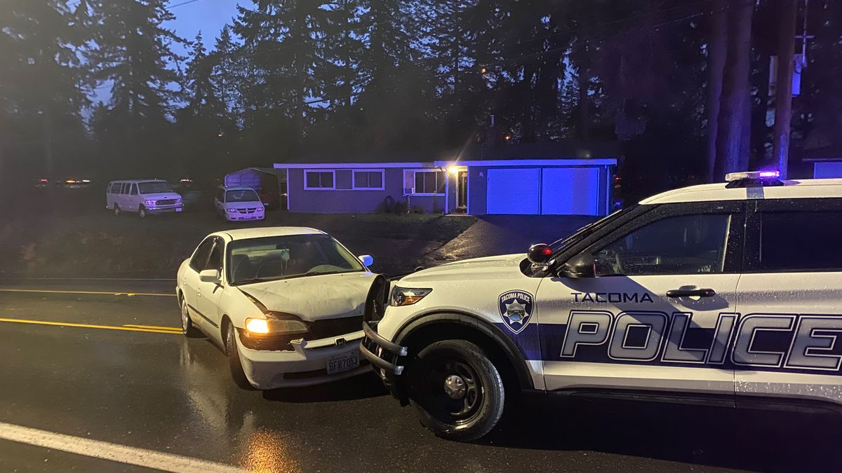 Tacoma PD SUV stolen, driven into King County and crashed