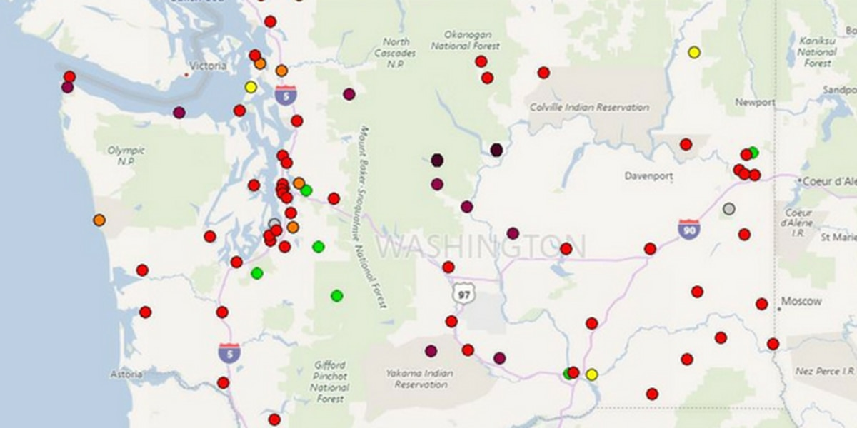 How bad is the air in the Puget Sound? This map will tell you
