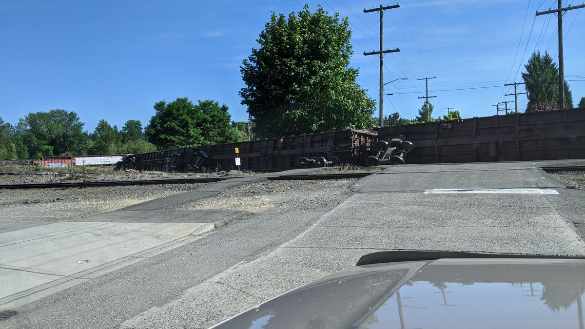 Roads expected to be closed for days after train derailment
