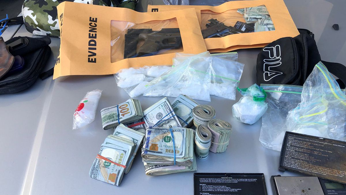Hundreds of grams of drugs, $13K in cash seized during traffic stop