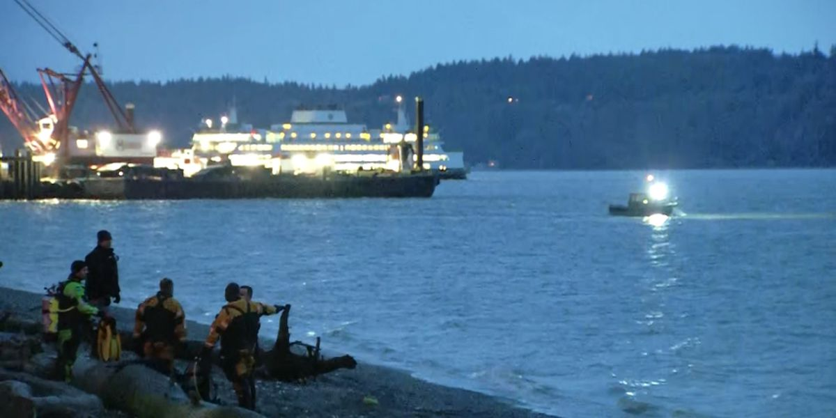 Rescuers look for man who went underwater near Mukilteo ferry terminal