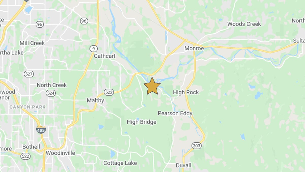 2 small earthquakes reported Monday near Monroe, Carnation
