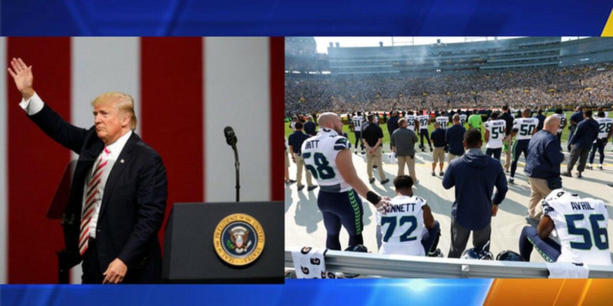 Trump blasts NFL players who kneel during anthem