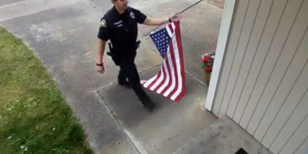 President Trump thanks Marysville officer who took time to pick up fallen American flag on July 4th