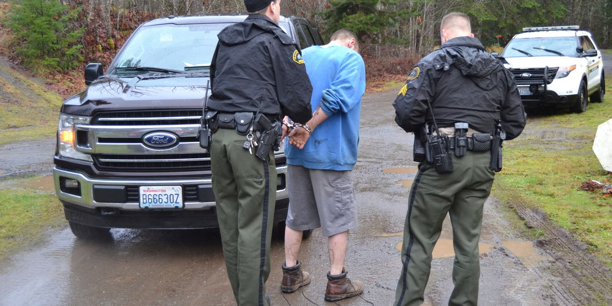 Suspected stolen vehicle, firearms and more seized in arrest of Port Angeles man