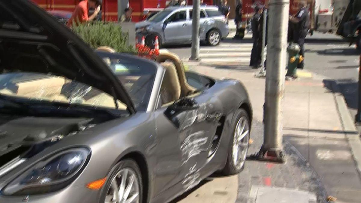 Cars, pedestrians collide near Seattle Center