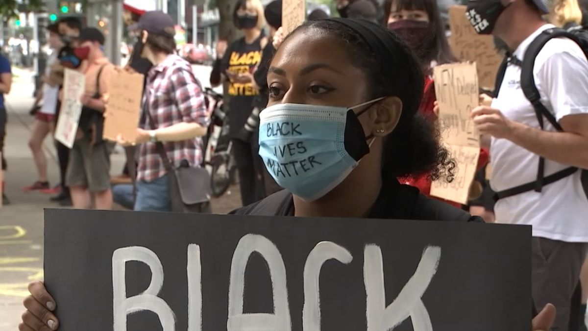 Whole Foods employees in Westlake protest over Black Lives Matter masks
