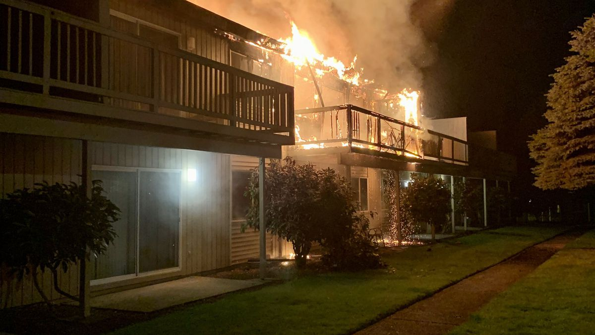 3 hurt after embers from exploded fireworks ignite fire at Tacoma apartment building
