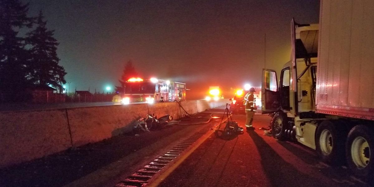 Two killed in wrong-way crash on I-5 near Olympia