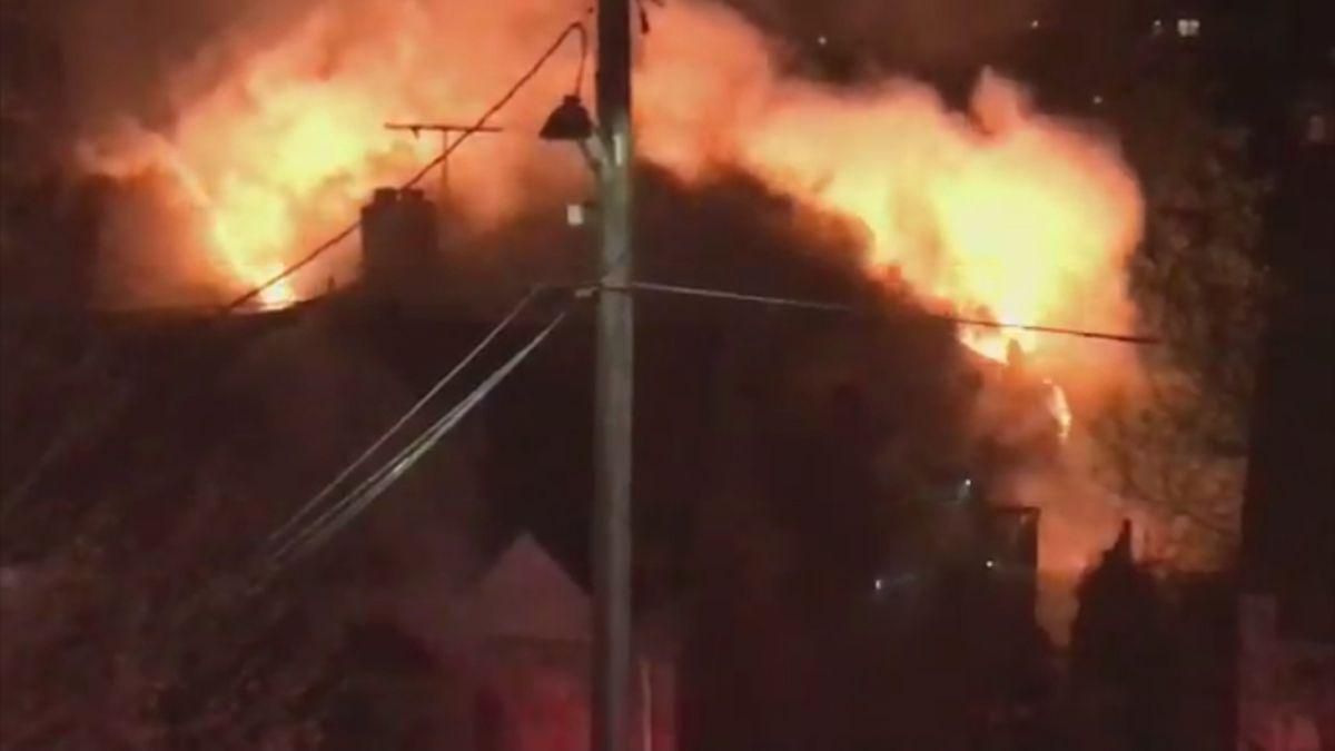 Massive flames engulf Ballard home