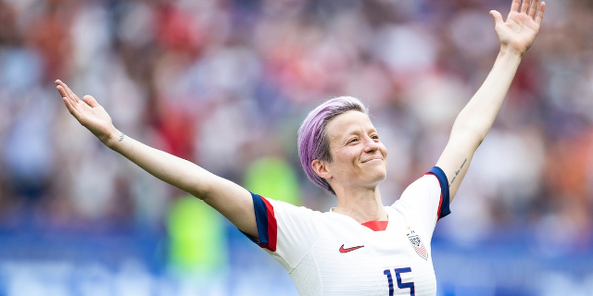 Megan Rapinoe attends Seattle Storm game Friday