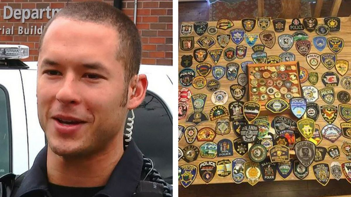 Law enforcement patches wanted for son of fallen Washington police officer