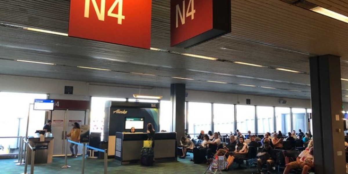 Last flight departs from North Satellite at Sea-Tac Airport