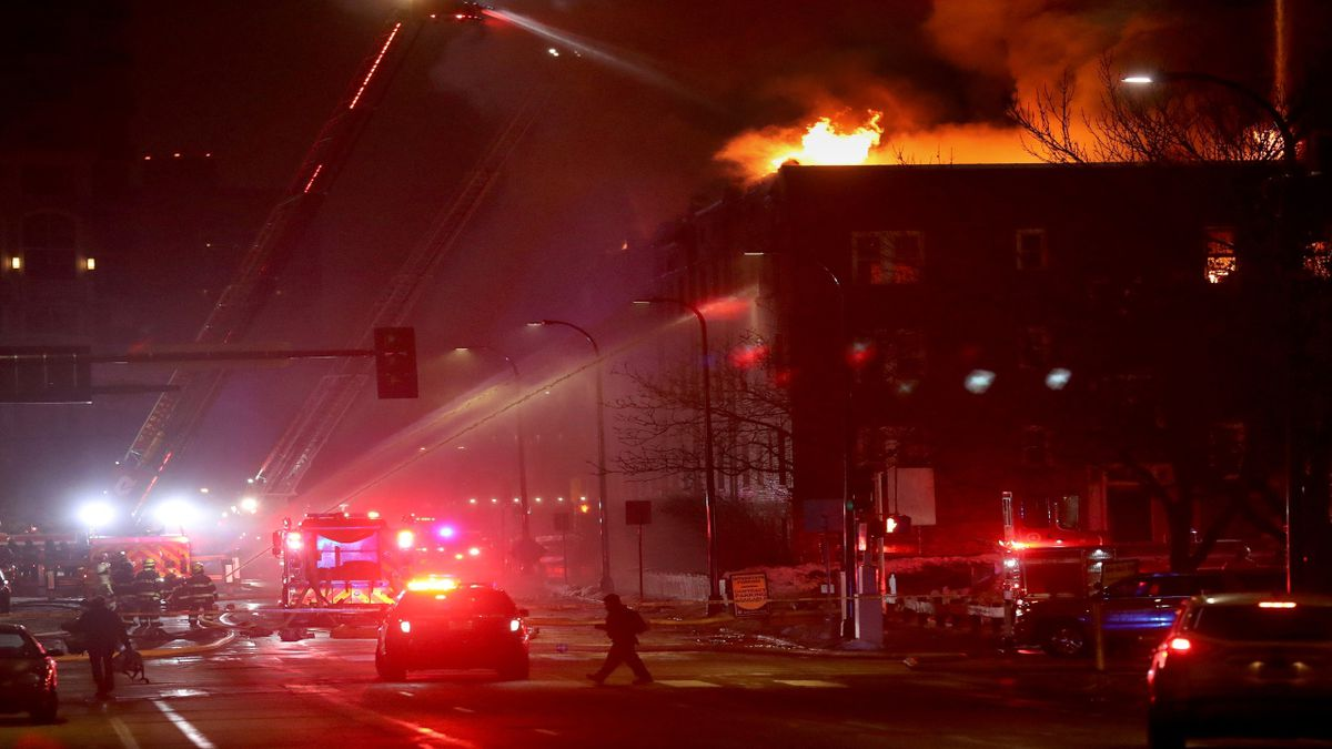 Christmas Day fire displaces more than 200 from overflow homeless shelter in Minneapolis