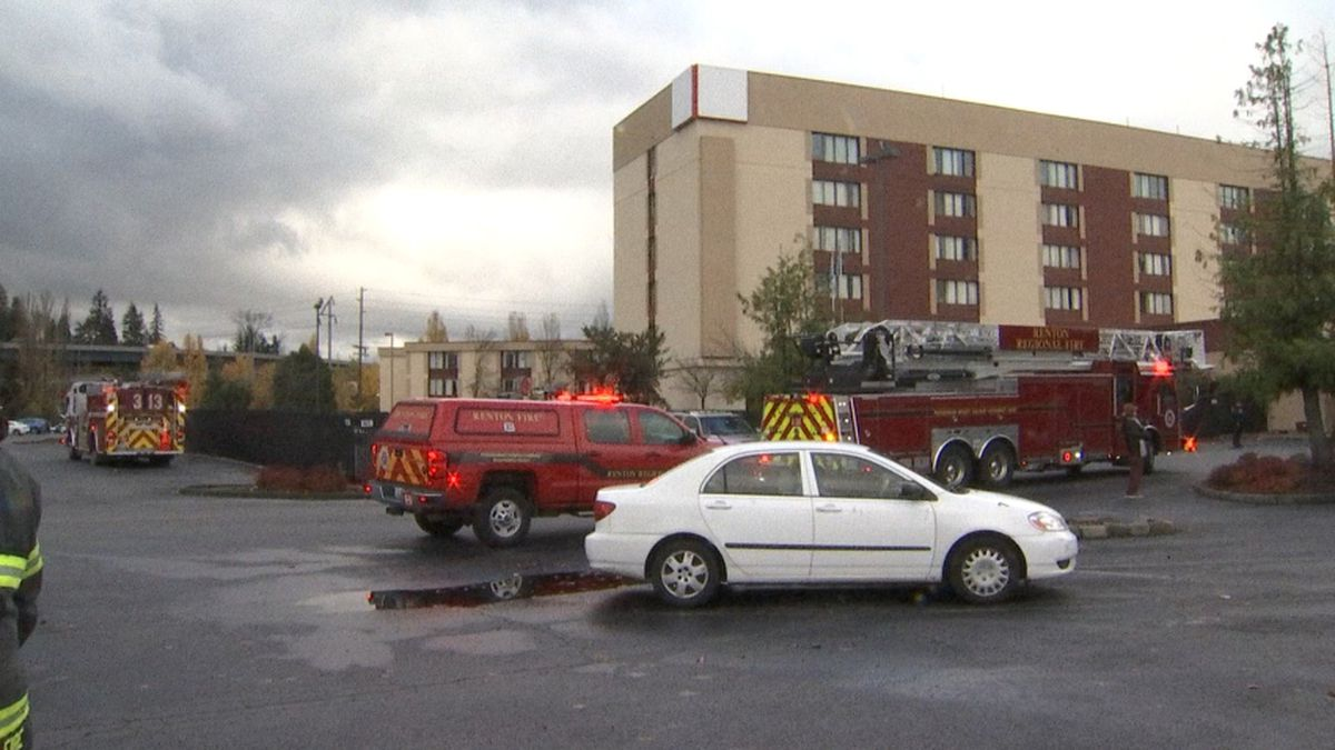 Fire set in Renton high-rise hotel being used as shelter