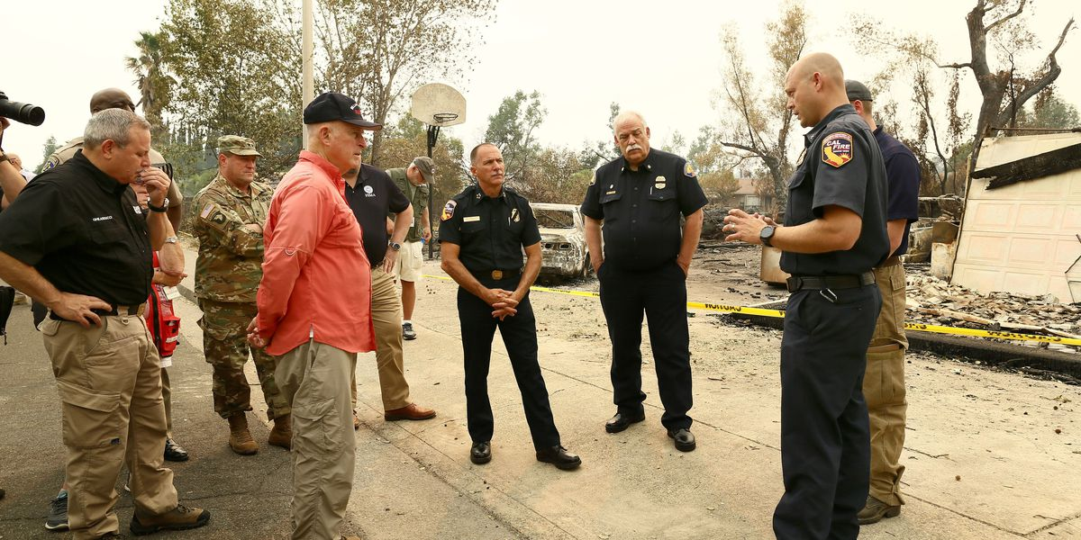 Gov. Jerry Brown calls devastating wildfires the 'new normal,' requests disaster declaration