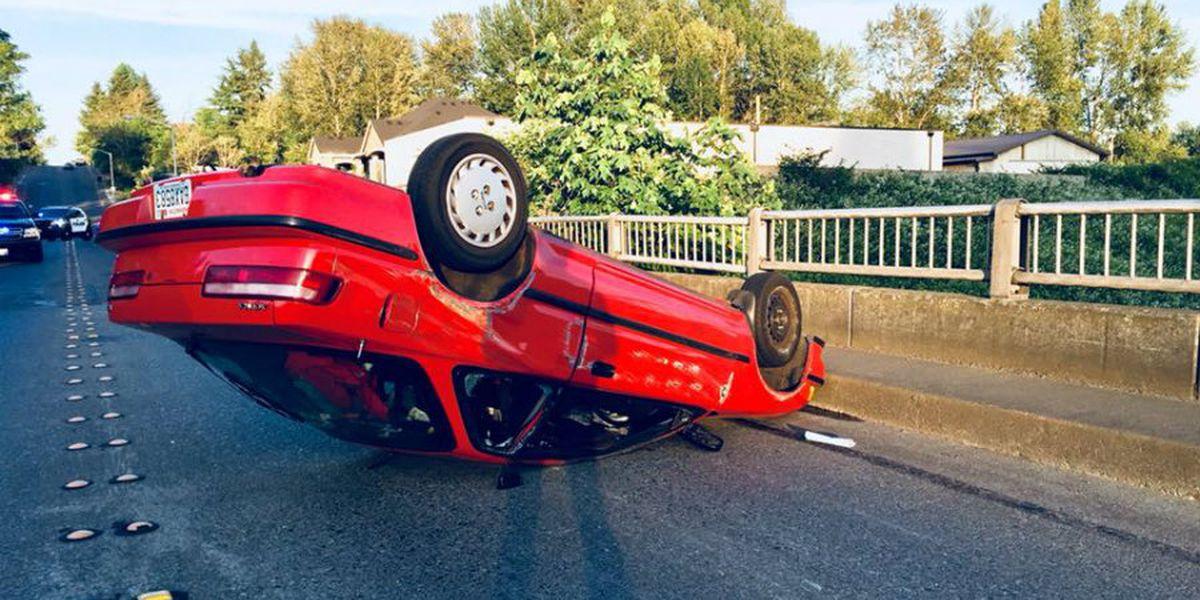 Arrest made after man crashes in stolen car police weren't chasing