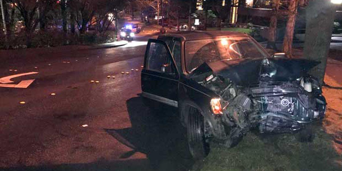 Driver crashes stolen car in Bellevue, flees scene, leaves behind injured passenger