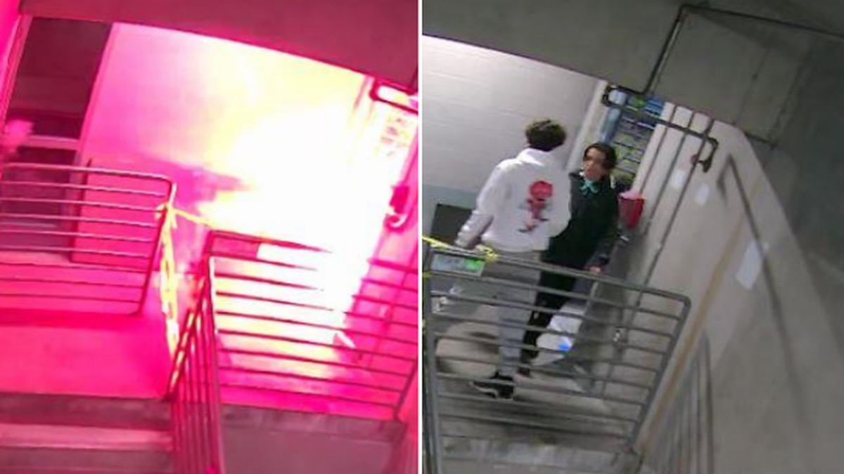 Police: Can you ID these suspects who set off fireworks in Kirkland Library parking garage?