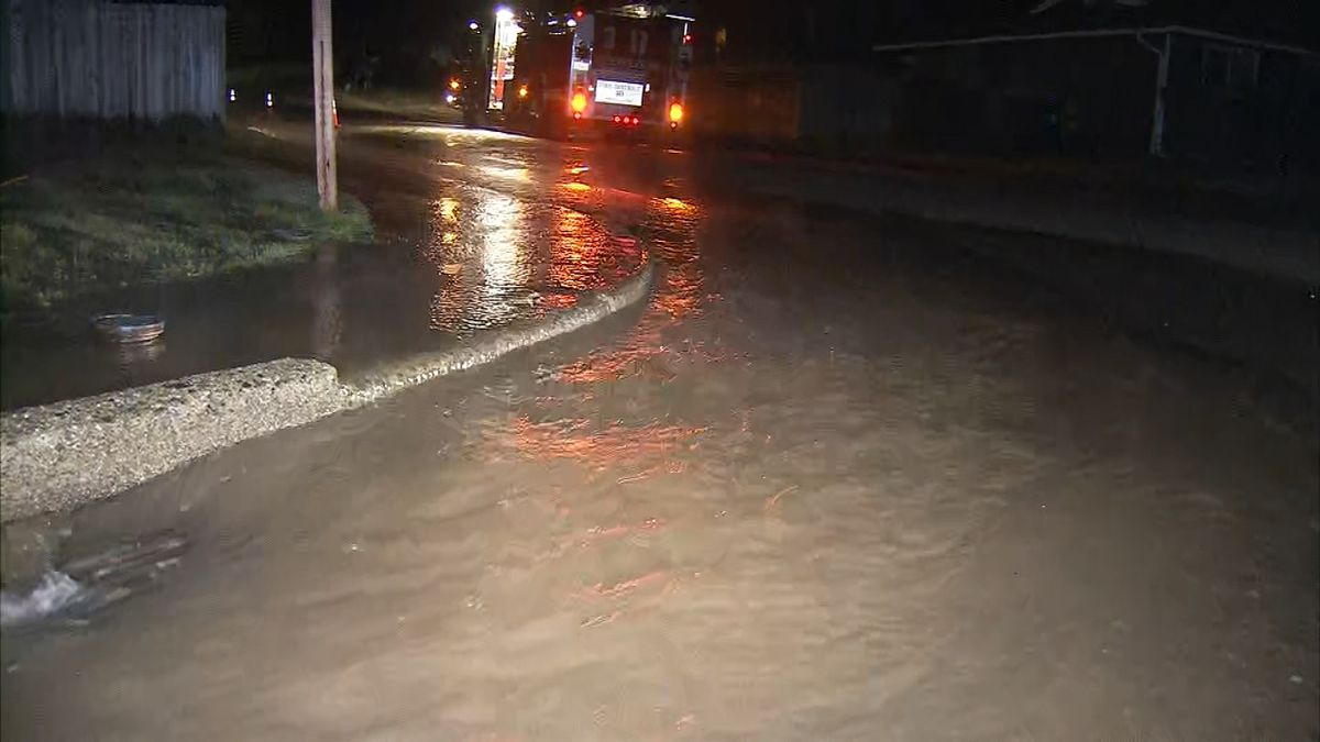 Large water main break floods streets in Renton
