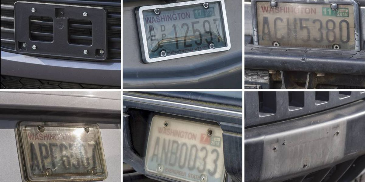 Are license plates covers legal in Washington, and do you actually need two plates?