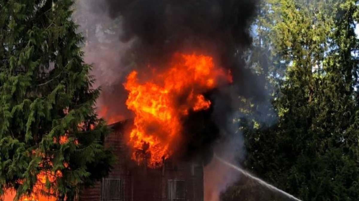 Dog unaccounted for after fire rips through Spanaway house