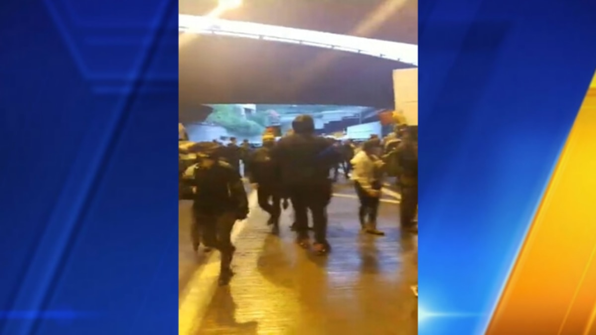 Protester says he captured video of instigators' intent that incited violence Saturday night