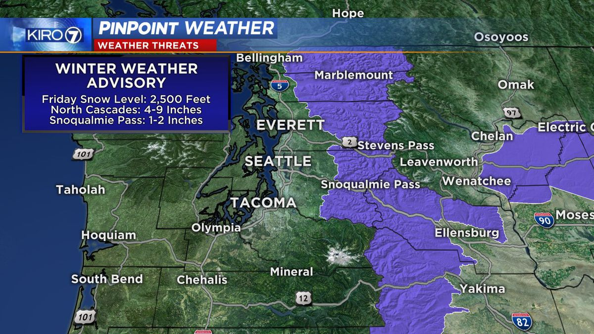 Friday storm to bring snow to Cascades, could get washed away by rain