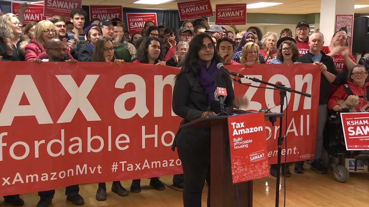 Incumbent Kshama Sawant declares victory in Seattle City Council race