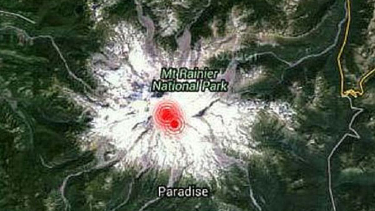 Series of earthquakes recorded under Mount Rainier