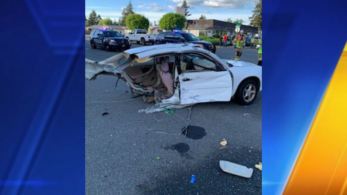 Vehicle ripped in half in Lakewood crash