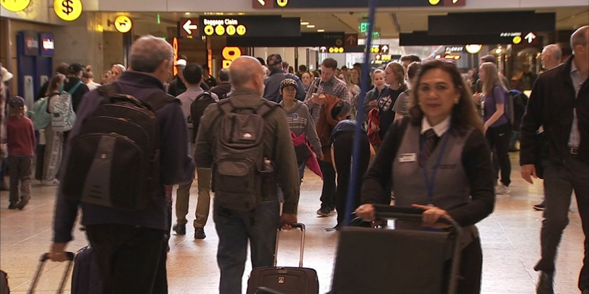 Busy spring break travel season underway at Sea-Tac Airport