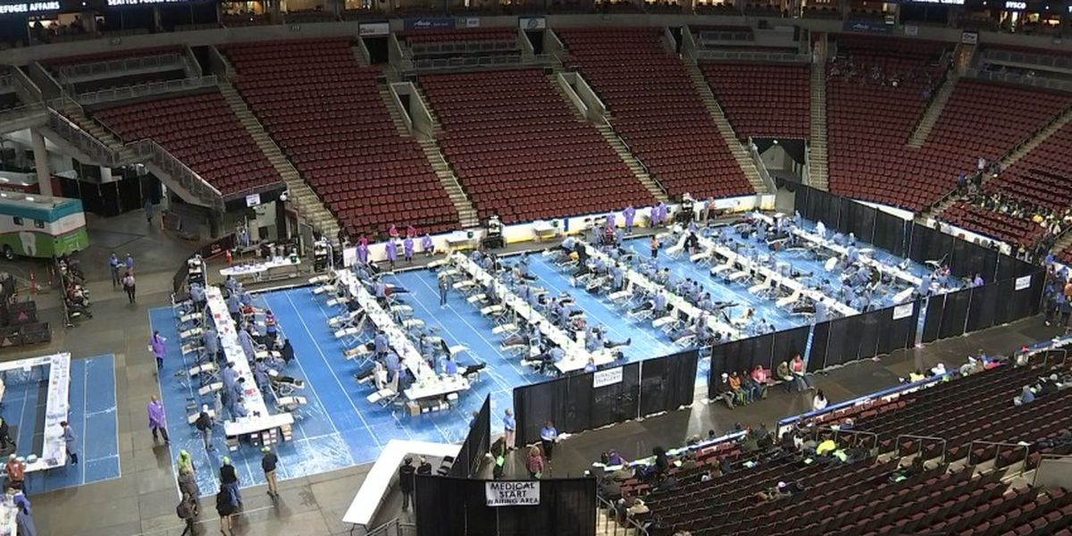 Thousands get health care at KeyArena at largest free clinic in the state