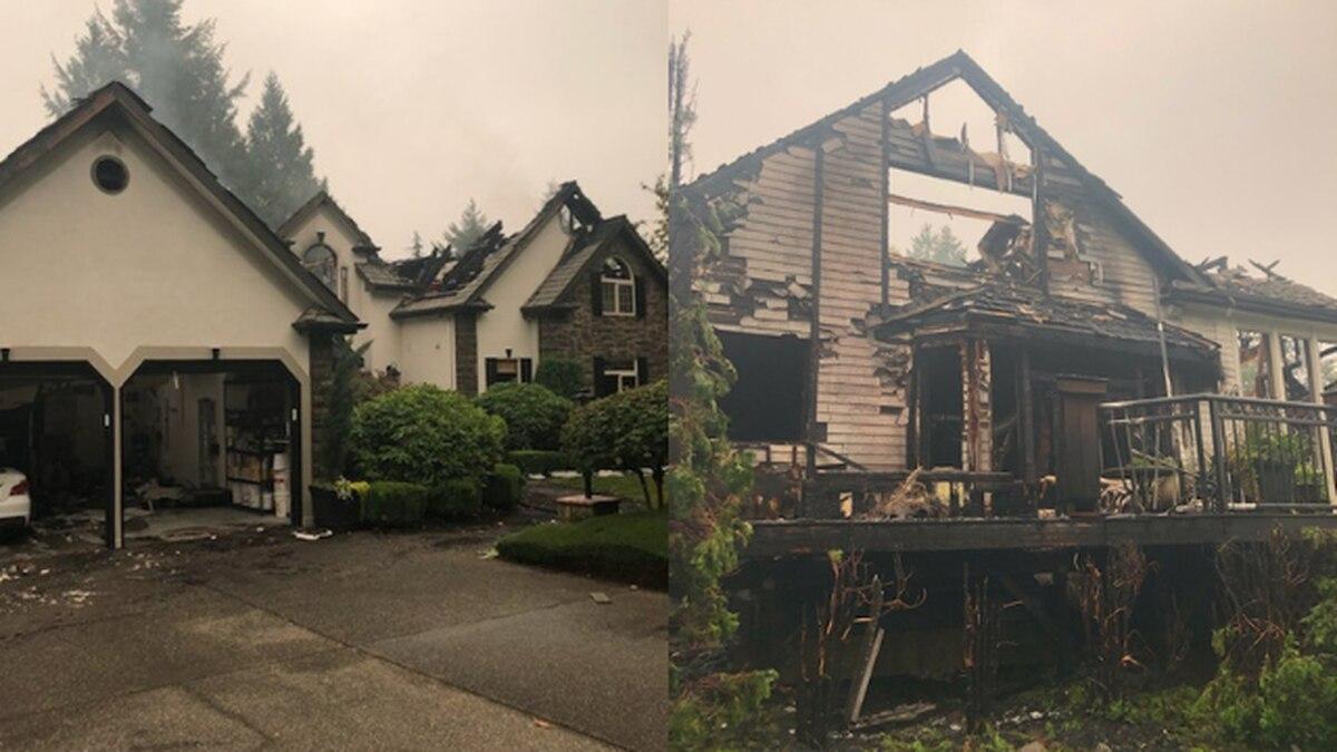 2-alarm fire destroys home in Gig Harbor