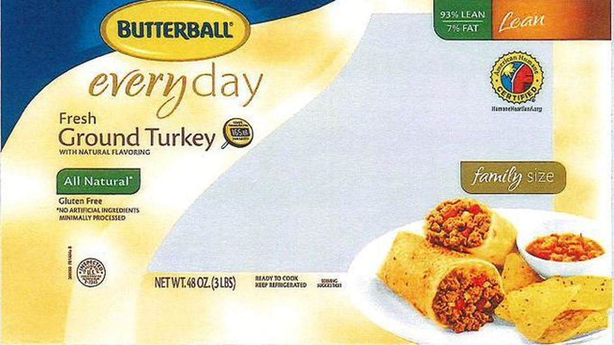 Butterball recalls 78,000 pounds of ground turkey over salmonella fears