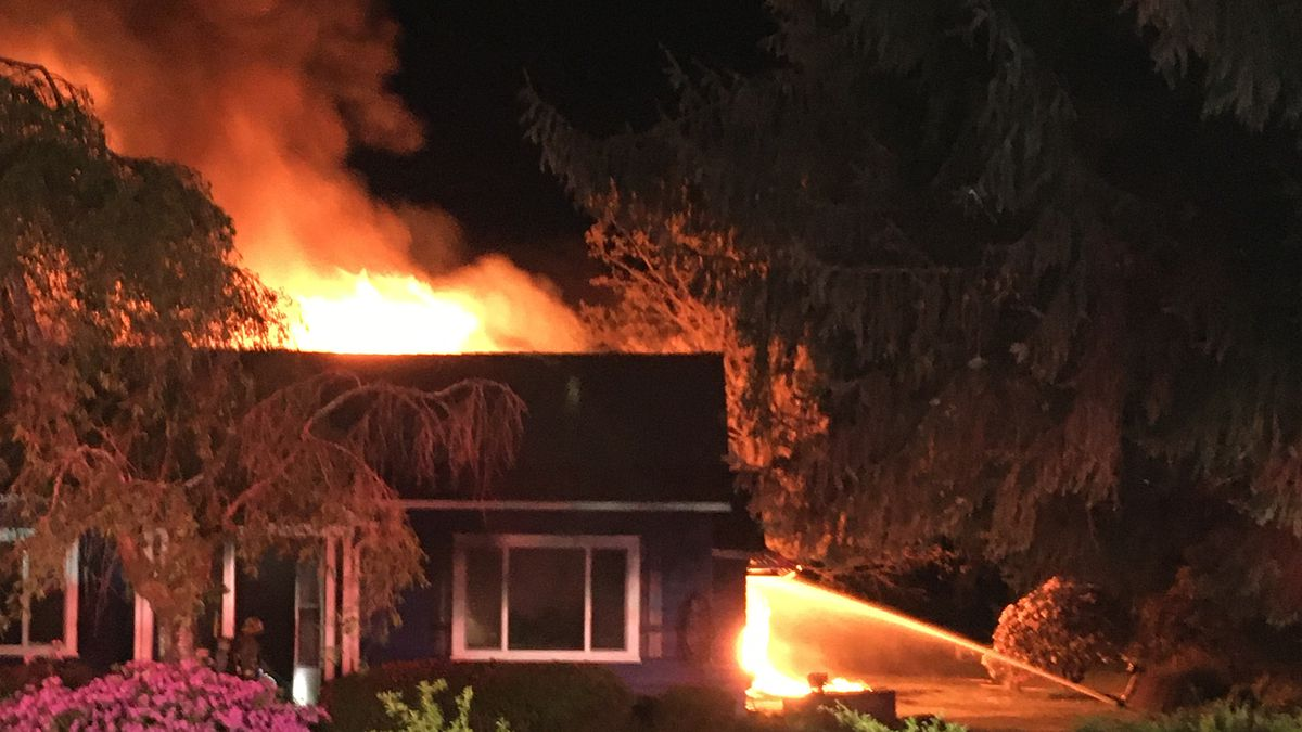 Fire with explosions damage Snohomish County home, firefighters say