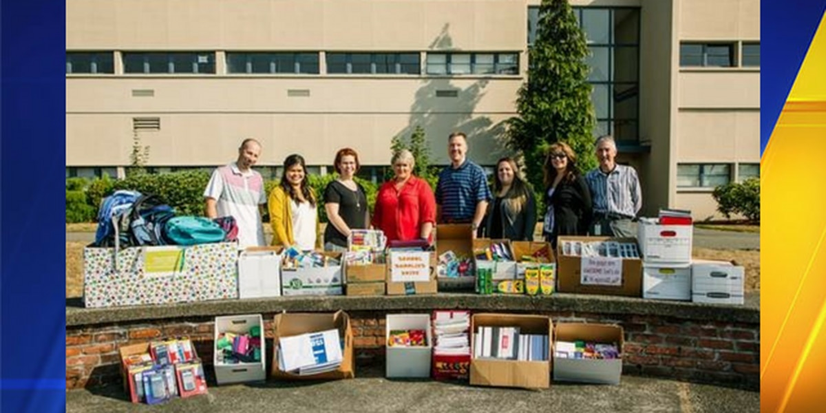 Kent city employees donate supplies, money to local high school