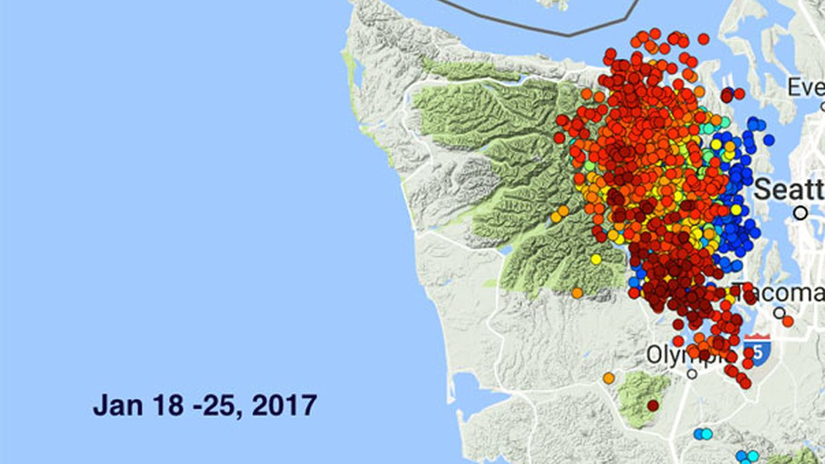 'Strong' tremors recorded for the past week under Hood Canal