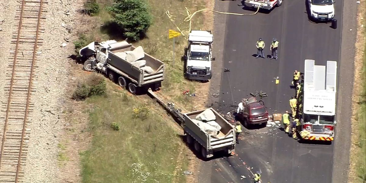 Jeep veers into oncoming traffic, collides with dump truck in fatal crash in Roy