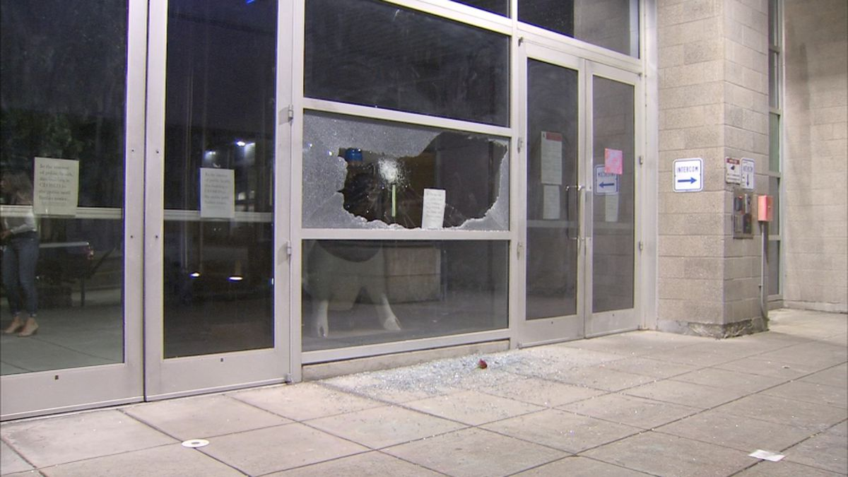 Woman arrested for property damage at protest outside West Precinct, SPD says