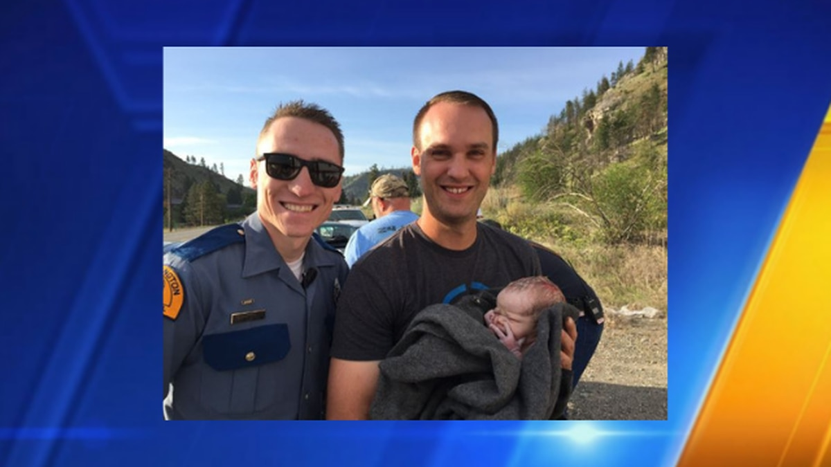 Trooper helps deliver baby on side of highway on Mother's Day