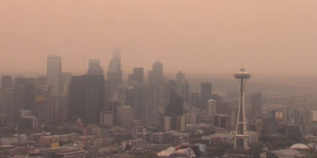 Wildfire smoke causing flight delays at Sea-Tac Airport