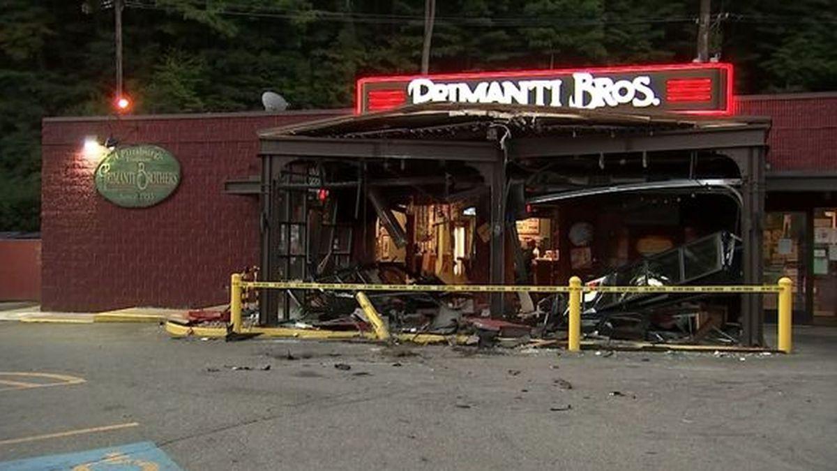 Truck plows into Primanti Bros. restaurant