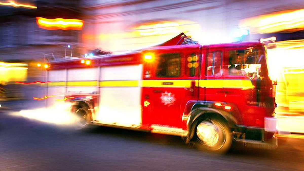 Firefighter seriously injured during collision response