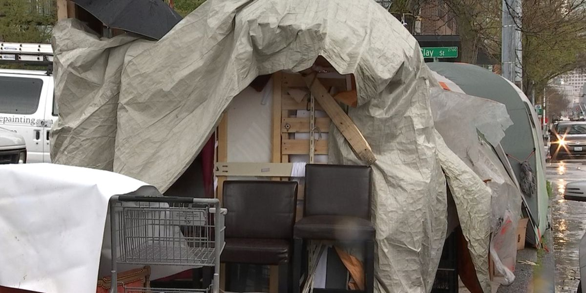 Homeless camped on Seattle sidewalk: 'We intend to stay right here'
