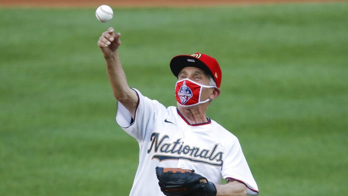 Anthony Fauci gets baseball card to commemorate first pitch at Nationals opener