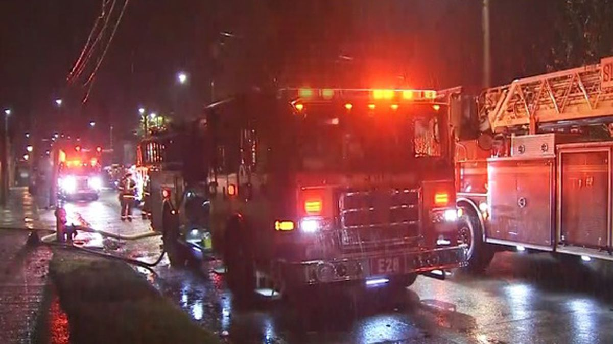 3 rescued from second-floor window during South Seattle fire